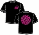 What It's All About Design Black Volleyball T-Shirt