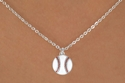 White Baseball Charm Necklaces