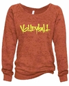 Pomegranate Ladies Burnout Fleece Crew w/ Abstract Volleyball Design in 5 Colors