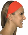 Neon Orange Spandex Fabric Headband