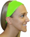 Lime Green Spandex Fabric Headband