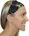 Tie-Dye Lightning Spandex Fabric Headband