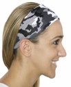 Black & White Camo Spandex Fabric Headband
