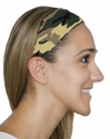 Green & Brown Camo Spandex Fabric Headband