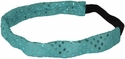Turquoise Blue Sequin Glitter Headbands