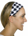 Houndstooth Printed Spandex Fabric Headband