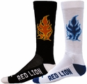 Burning Fire Crew Socks - 2 Color Options