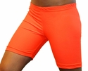 "Neon Orange 6"" inseam Spandex Shorts"