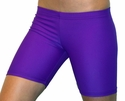 "Neon Purple 6"" inseam Spandex Shorts"