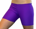 "Neon Purple 4"" inseam Spandex Shorts"