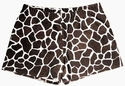 Brown Giraffe Print Spandex Shorts