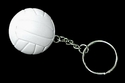 White Round 3-D Volleyball Key Chains