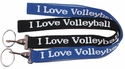 I Love Volleyball Lanyards