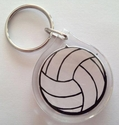 Volleyball Logo Acrylic Key Ring