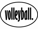 Volleyball Word Oval Decal