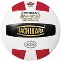 Tachikara Red-White-Black SV-5W Gold Volleyball