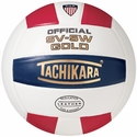 Tachikara Red-White-Blue SV-5W Gold Volleyball