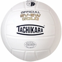 Tachikara White SV-5W Gold Volleyball