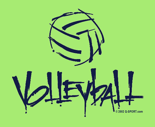 Abstract Volleyball Design T-Shirt - in 22 Shirt Colors