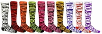 Safari Stripe Knee High Socks - 15 Color Options