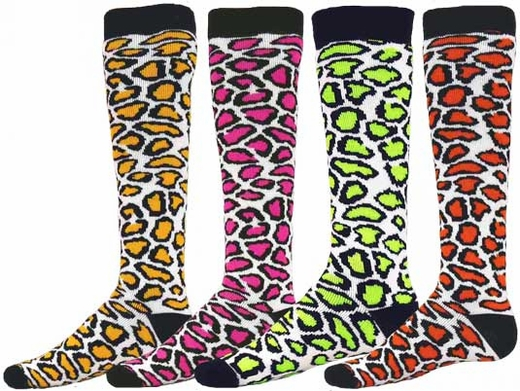 Leopard / Cheetah Spot Knee High Socks - 4 Color Options