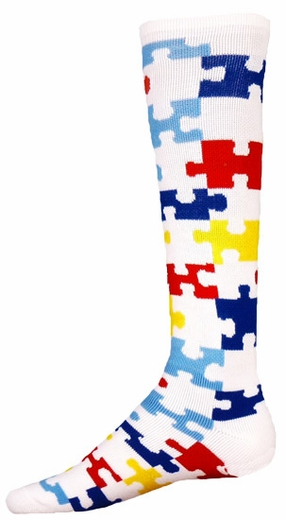 Autism Awareness Puzzle Knee High Socks