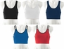 Athletic Poly / Spandex Sports Bras - in 5 Colors