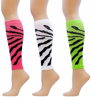 Tiger Stripe Sport Compression Leg Sleeves - 3 Color Options