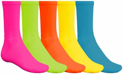 Bright Colorful Crew Socks - 6 Color Options