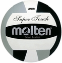 Molten Black-White-Silver Super Touch Volleyball w/ H.S. Stamp
