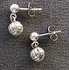 Round Pewter Volleyball Post Earrings