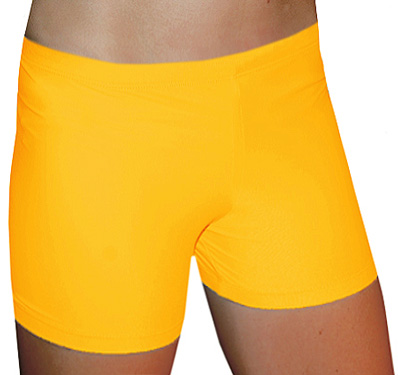 "Gold 4"" inseam Spandex Shorts w/ UV sunblock"