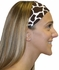 Brown Giraffe Print Spandex Fabric Headband