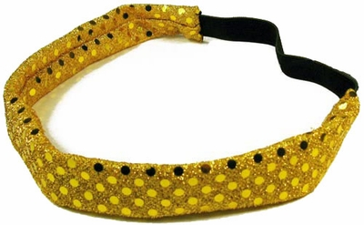 Gold Sequin Glitter Headbands