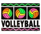 Neon Volleyball Design Long Sleeve Shirt - in 16 Shirt Colors