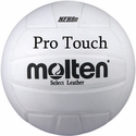 Molten White Pro Touch Volleyball w/ H.S. Stamp