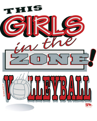 Girls in the Zone! Design Long Sleeve Volleyball Shirt - in 16 Shirt Colors