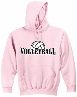 Volleyball Rising Design Hooded Sweatshirt - in 20 Hoodie Colors