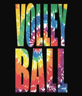Swirl Tie-Dye Volleyball Short Sleeve T-Shirt - in 22 Shirt Colors