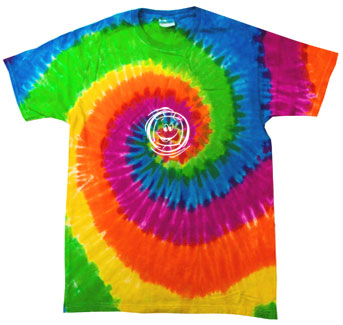 Smiley Face Volleyball Design Tie-Dye Tee - in 15 Shirt Colors