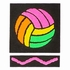 Neon Volleyball Design T-Shirt - in 22 Shirt Colors