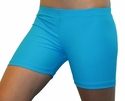 "Neon Blue Turquoise 4"" inseam Spandex Shorts"