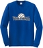 Volleyball Rising Design Long Sleeve Shirt - in 18 Shirt Colors