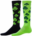 Lucky Shamrock Zany Knee High Socks - 2 Color Options