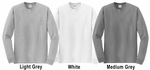 Volleyball w/ Net Design Discount Long Sleeve Shirt - in 3 Shirt Colors