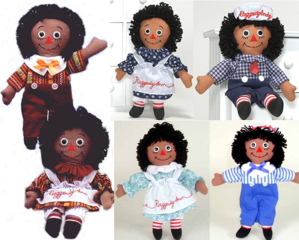 were produced by the old former applausedakin company and are very hard to find aurora is the current company that produces the raggedy ann andy - Raggedy Ann And Andy