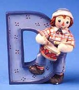 D is for Drum - Raggedy Andy Figurine