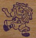 Micro/Mini Raggedy Ann Rubber Stamp
