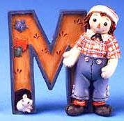 M is for Mouse - Raggedy Andy Figurine