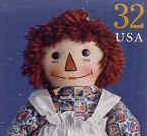 Raggedy Ann Stamp Related Products  -   Raggedy Ann Classic American Doll Stamp Memorabilia